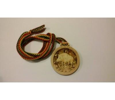 """Medalis su gitaru """"Medžioklės karaliui"""""""