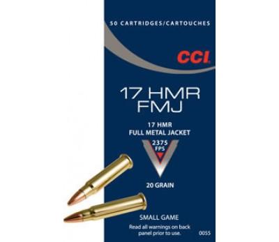 Šoviniai CCI, kal. 17HMR, FMJ 20 grain
