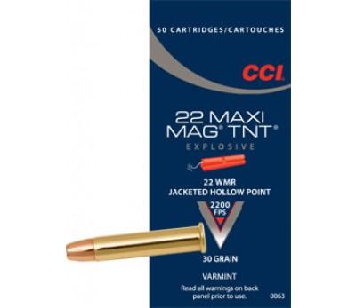 Šoviniai CCI, kal. 22WMR, JHP  30 grain