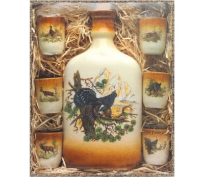 KOZAP butelis su 6 taurelėm