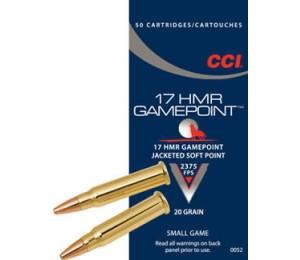 Šoviniai CCI, kal. 17HMR, Gamepoint 20 grain