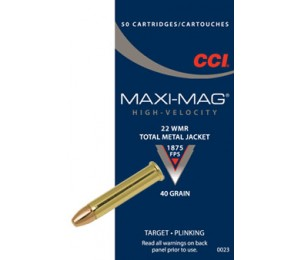 Šoviniai CCI, kal. 22WMR, TMJ  40 grain
